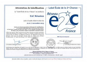Attestation de labellisation